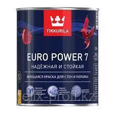 Краска интер. стойкая к мытью EURO POWER 7A мат 9л