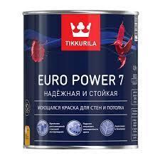 Краска интер. стойкая к мытью EURO POWER 7A мат 0.9л