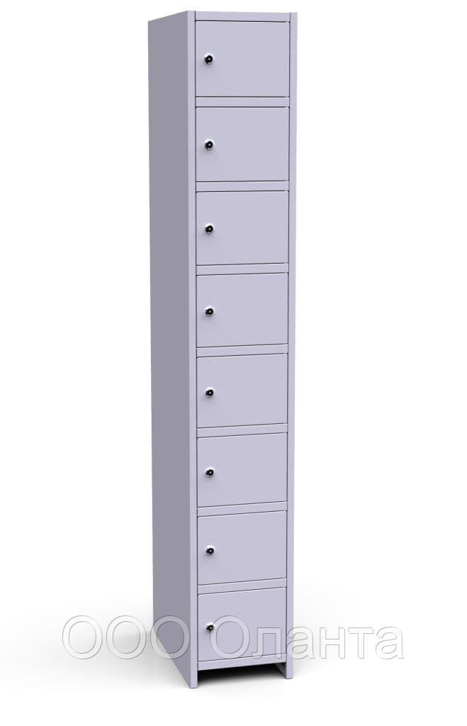 Шкаф металлический для сумок 8 ячеек (300х500х1850) арт. ШР18/300