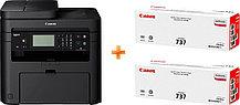 Canon 1418C164 МФУ лазерное i-SENSYS MF237w (принтер, сканер, копир) Bundle 2 доп. картриджа в комплекте