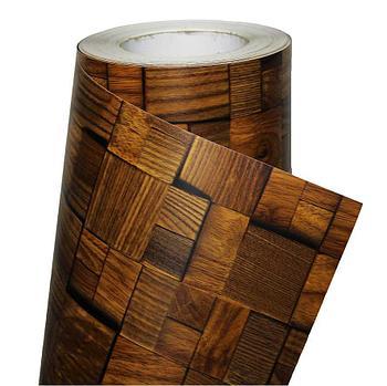Пленка (декоративная) 1,22м х 30м 9602 - Паркет темный метр
