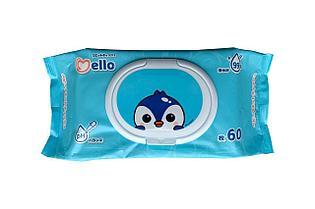 Салфетки влажные детские Mello 60шт