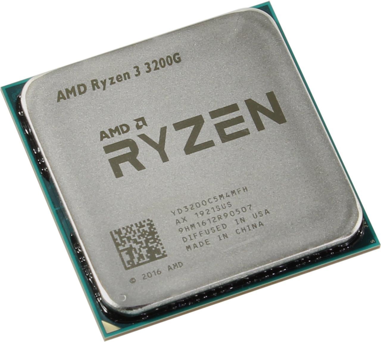 Процессор AMD Ryzen 3 3200G Vega 8 Graphics, 65W OEM