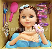 Детский набор стилиста кукла-манекен Fashion Girl с подвижными руками (в голубом) 3393