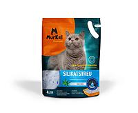 Murkel, Муркель силикагелевый наполнитель для кошек с ароматом алоэ вера, уп. 4л (1,8кг)