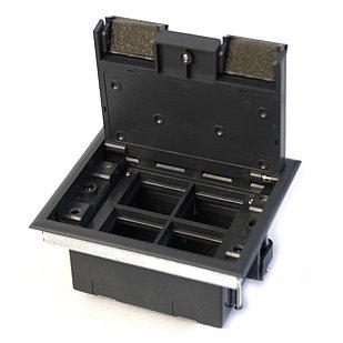 Shelbi Напольный лючок на 8 модулей, пластик, серый
