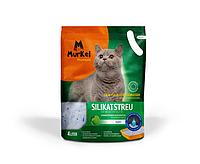 Murkel, Муркель силикагелевый наполнитель для кошек с ароматом яблока, уп. 4л (1,8кг)