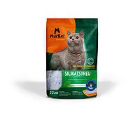 Murkel, Муркель силикагелевый наполнитель для кошек с ароматом скошенной травы, уп. 2,2л (1кг)