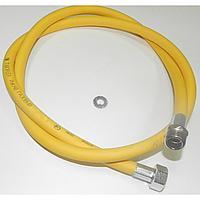 Шланг для газа ПВХ 1/2 1,5 метра г/г (евро слот, ал. опрес) (Россия)