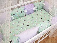 Детское постельное белье Страна Чудес Кролики 6 предметов