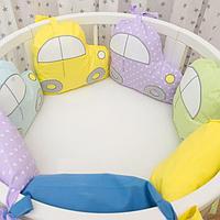 Детское постельное белье Страна Чудес Машинки 6 предметов