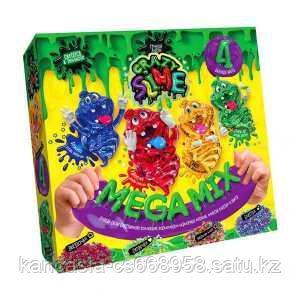 """Danco Toys Безопасный образовательный набор для проведения опытов """"Crazy Slime 4 в1"""", Фиолетовый."""