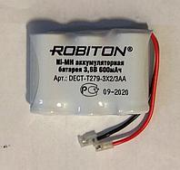 Аккумулятор Robiton T279 600mAh 3.6V аналог GP T107/157/242/Panasonic P-P301/302/303/304/P-30AA/30B KX-A36A