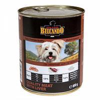 513525 BELCANDO Best Quality Meat&Liver, Белькандо влажный корм для щенков и собак с мясом|печенью, банка 800г