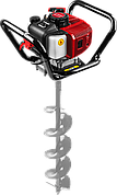 Мотобур (бензобур), d=60-200 мм, 52 см3, 1 оператор, ЗУБР
