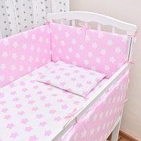 Детское постельное белье Страна ПРЯНИЧНЫЕ ЗВЕЗДЫ розовый 6 предметов, фото 1