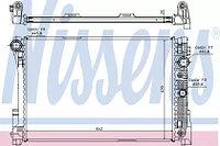 Радиатор, охлаждение двигателя NISSENS MB W204 212 X204 2,8-3,5
