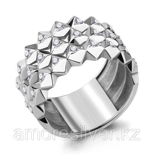 Кольцо Aquamarine серебро с родием, фианит 68656А.5