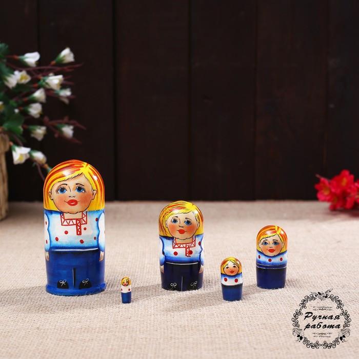 Матрёшка «Русский мальчик» 5 кукольная, 9 см