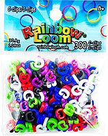 Цветные клипсы RAINBOW LOOM, 300 шт.
