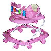 Ходунки детские Bambola Краб 8 колес розовый
