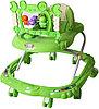 Ходунки Bambola Краб (8 колес, игрушки, муз) зеленый