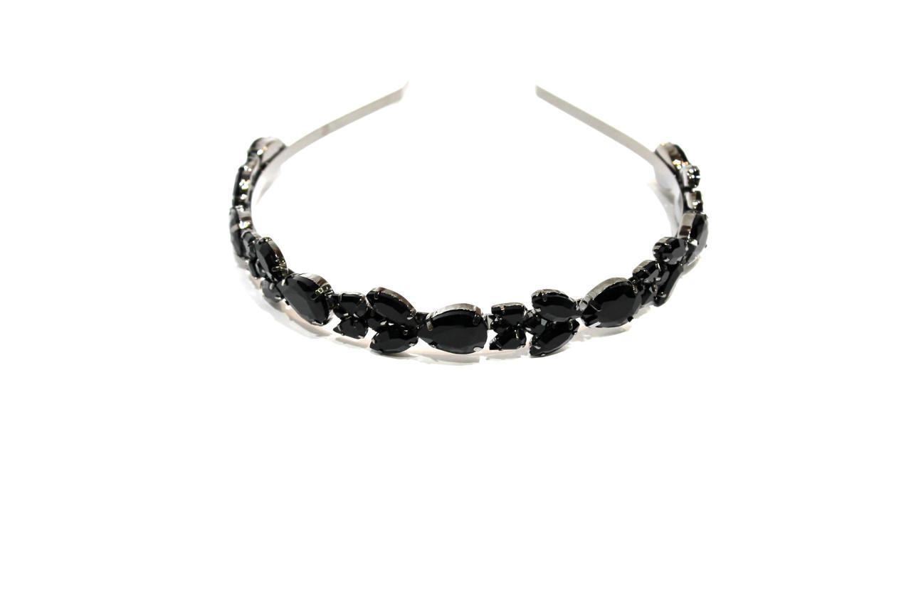 Ободки  Brosh Jewellery. Кристалл черный.