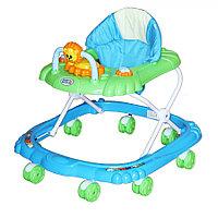 Детские ходунки Bambola Мишка 8 колес Голубой