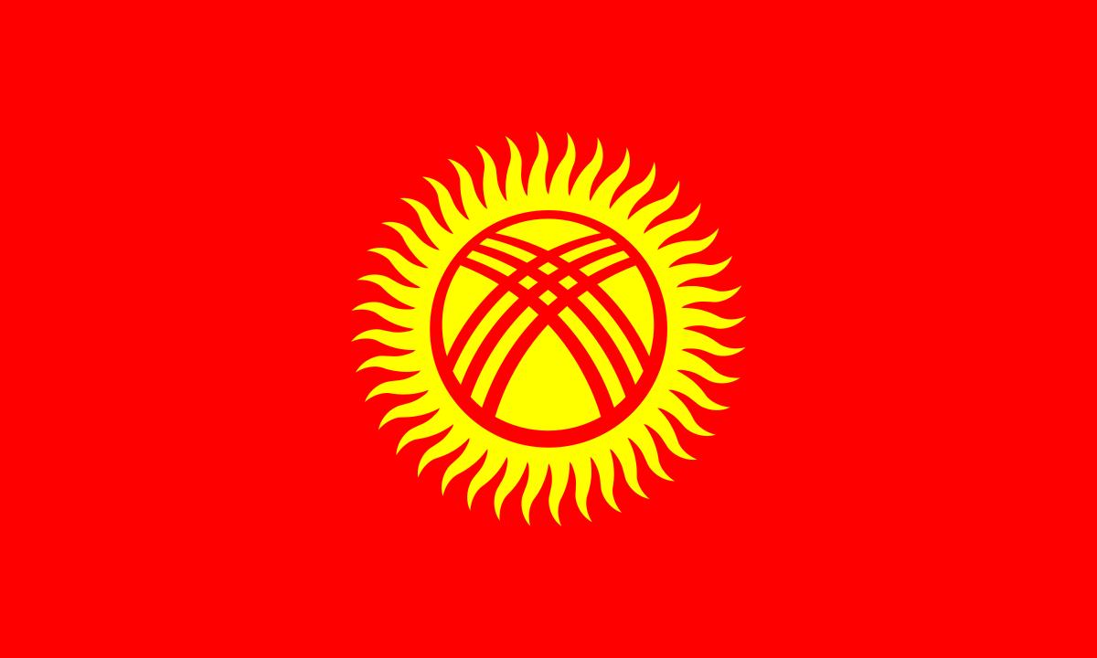 Флаг Киргизии размер 1 х 2 метра.