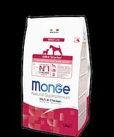 4008 Monge Starter Mini for Mother & Baby, Монже для щенков, беременных и кормящих собак мелких пород, уп1,5кг