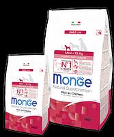 4107 Monge Superpremium Puppy&Junior Mini Dog, Монже сухой корм для щенков и юниоров мелких пород, уп.800гр.