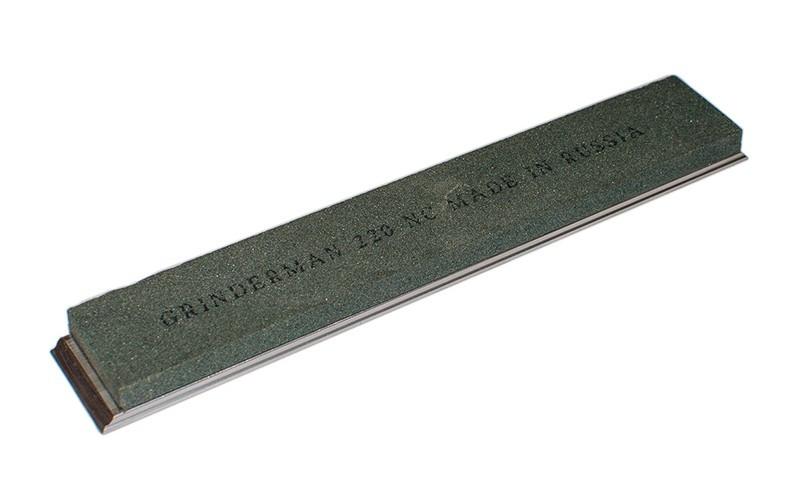 Брусок водный Grinderman из карбида кремния F220 на бланках 25х6х150