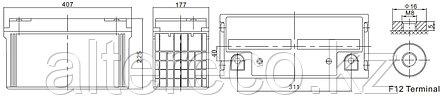 Аккумулятор Challenger A12-120 (12В, 120Ач), фото 2