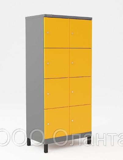 Шкаф металлический для сумок 8 ячеек на ножках (600х500х1850) арт. УНО324