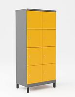 Шкаф металлический для сумок 8 ячеек на ножках (600х500х1850) арт. УНО324, фото 1