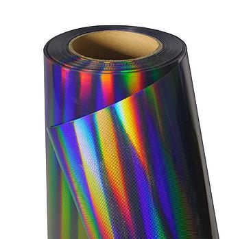 Термо флекс 0,5мх25м голографический черный с узором метр