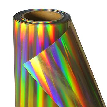 Термо флекс 0,5мх25м PU голографическое темное золото метр