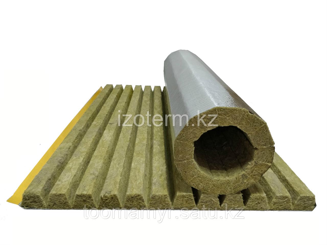 Плоский цилиндр IZOTERM с покрытием армированной алюминиевой фольгой