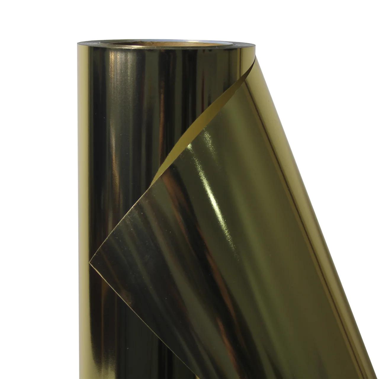 Термо флекс 0,5мх25м PU золото зеркальное металлизированное метр