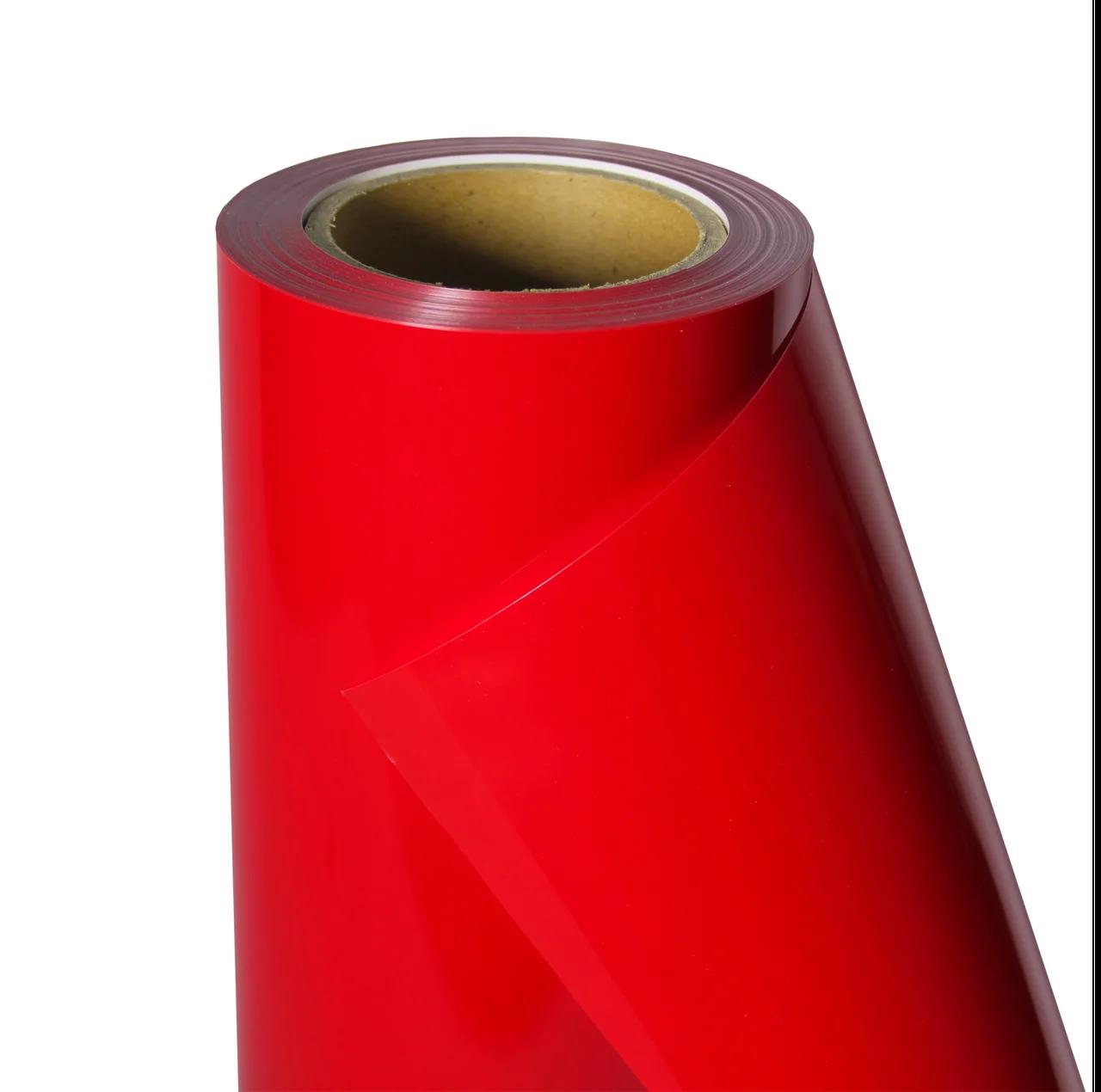 Термо флекс 0,5мх25м PU красный метр