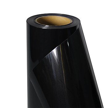 Термо флекс 0,5мх25м PU глубокий черный метр