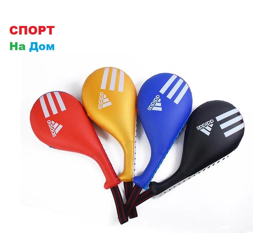 Лапа хлопушка для тхэквондо Adidas (цвет красный,золотой)