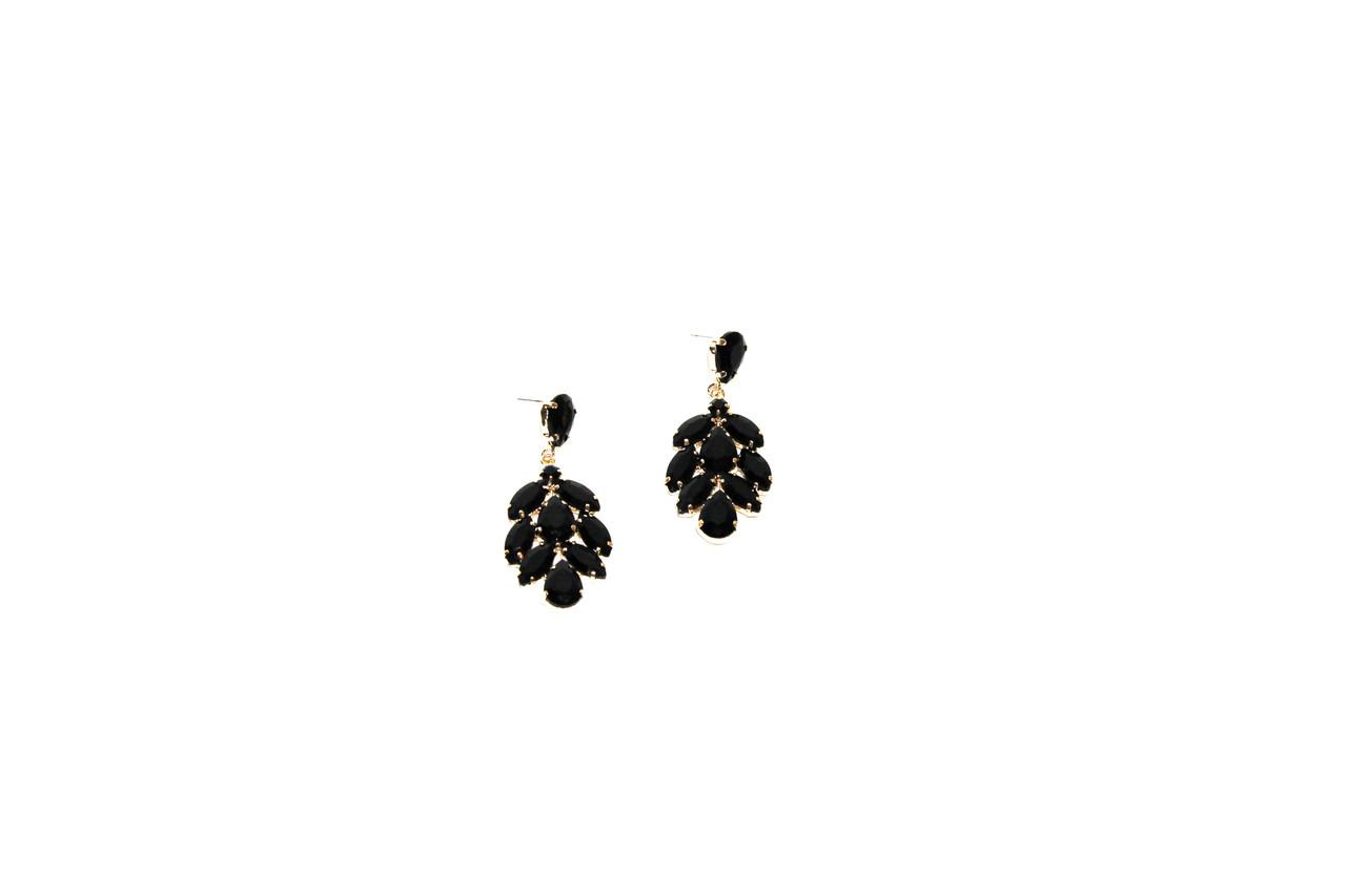 Вечерние серьги Brosh Jewellery (Черный Кристалл)
