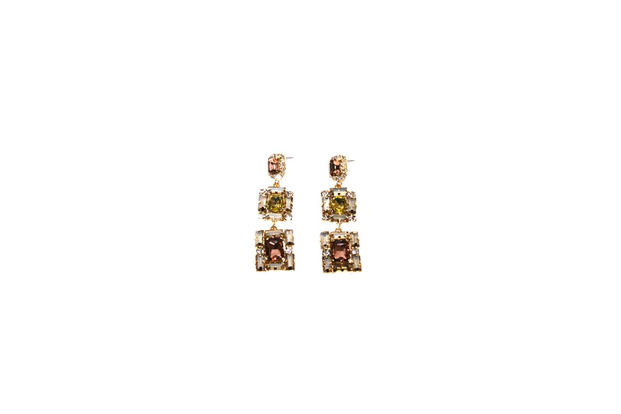 Вечерние серьги Brosh Jewellery (желтый Кристалл)