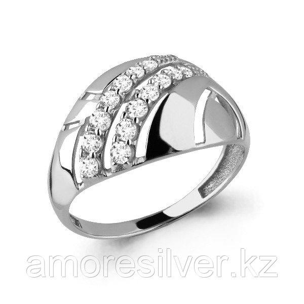 Кольцо Aquamarine серебро с родием, фианит, геометрия 64688А