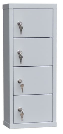 Шкаф металлический для мобильных телефонов 4 ячейки (240х120х600) арт. СОТЕЛ 4