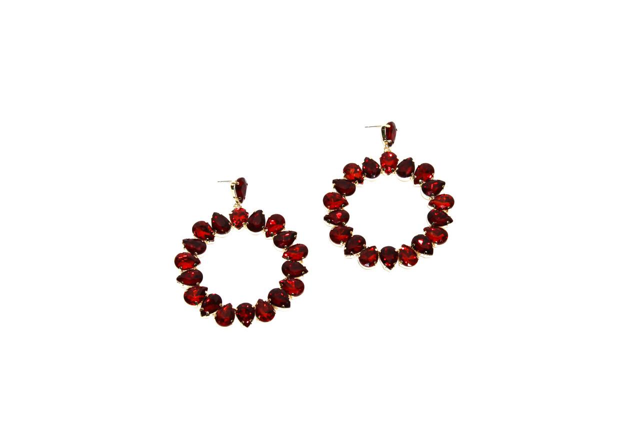 Вечерние серьги Brosh Jewellery (красный Кристалл)