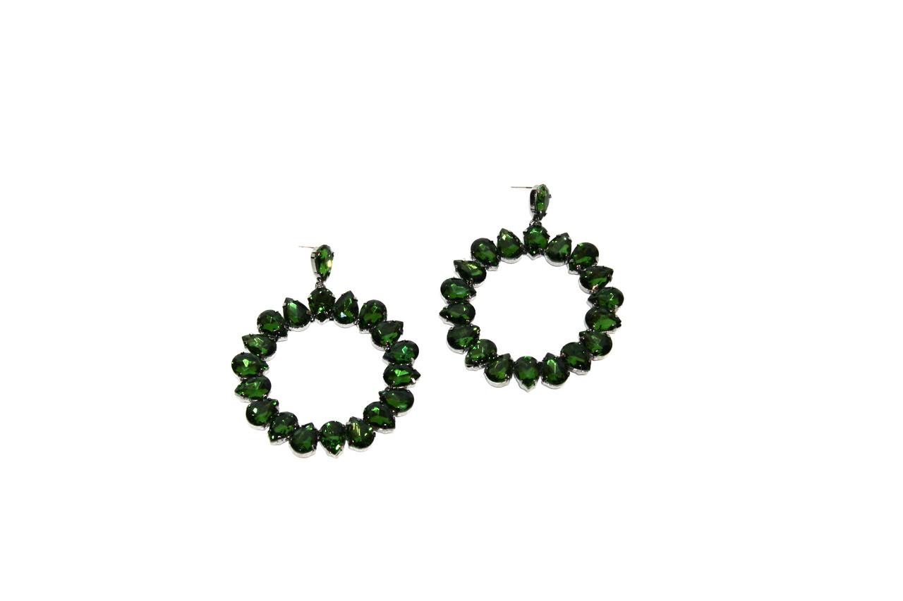 Вечерние серьги Brosh Jewellery (зеленый Кристалл)