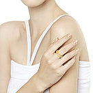 Кольцо SOKOLOV серебро с позолотой, жемчуг swarovski синт. 93010732, фото 2
