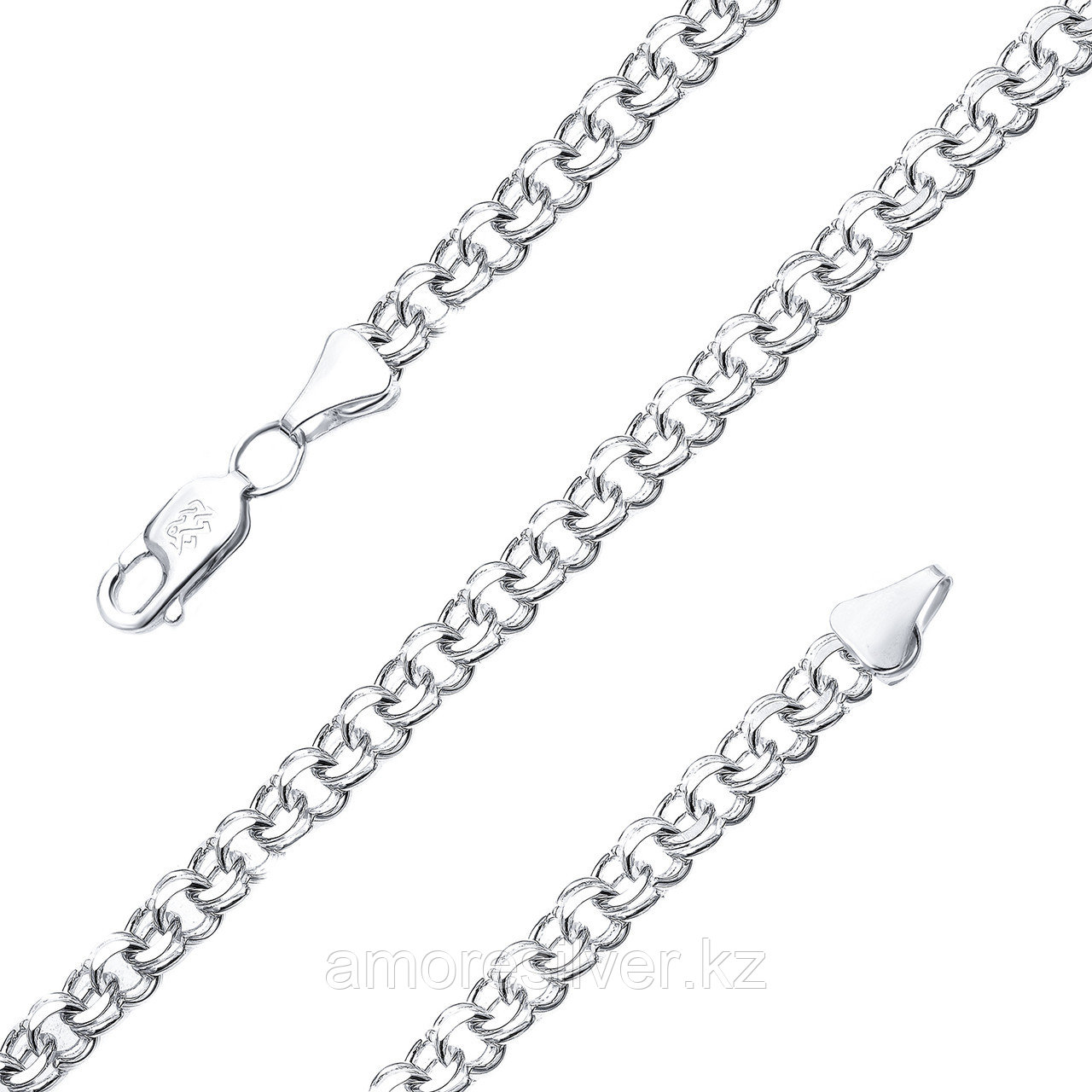 Цепь Адамант серебро с родием, без вставок Ср925Р-107007060